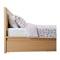 Malm Bettgestell Hoch Mit 4 Schubladen Eichenfurnier Weiss Lasiert Ikea Osterreich Malm Bed Frame High Bed Frame Malm Bed