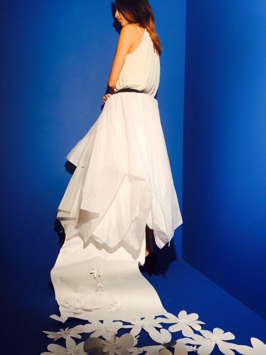 Exaggerated and absurd gown/ Cape/ skirt made from paper | For ...