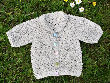 Free Knitting Pattern Baby Sweaters Summer Baby Cardigan Knit