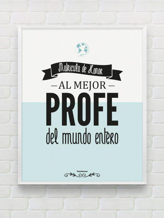 imprimibles para los mejores profesores del mundo, listos para ...