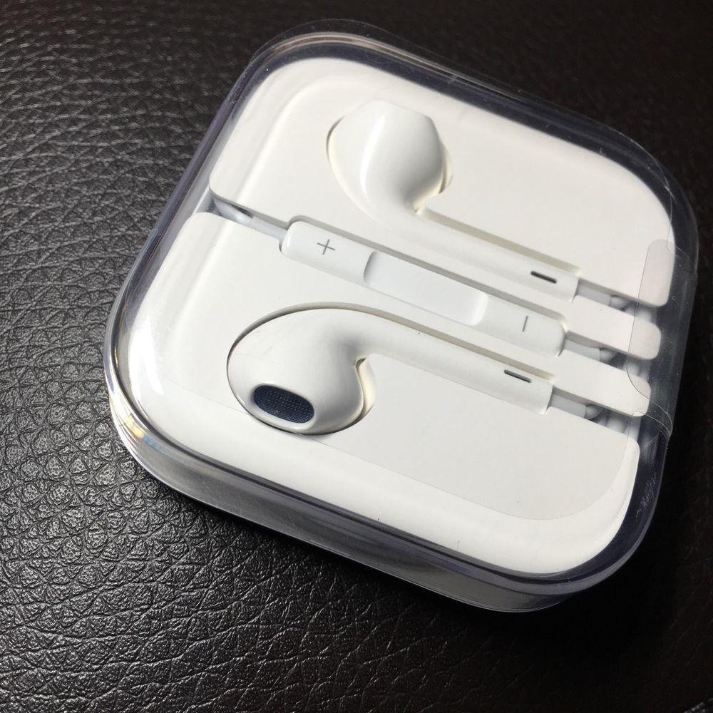 New Earphone Earbud Headset Headphone W Volume Control For Apple Iphone 6 5 5s Ebay Iphone Earphones Iphone Earbuds Earbuds