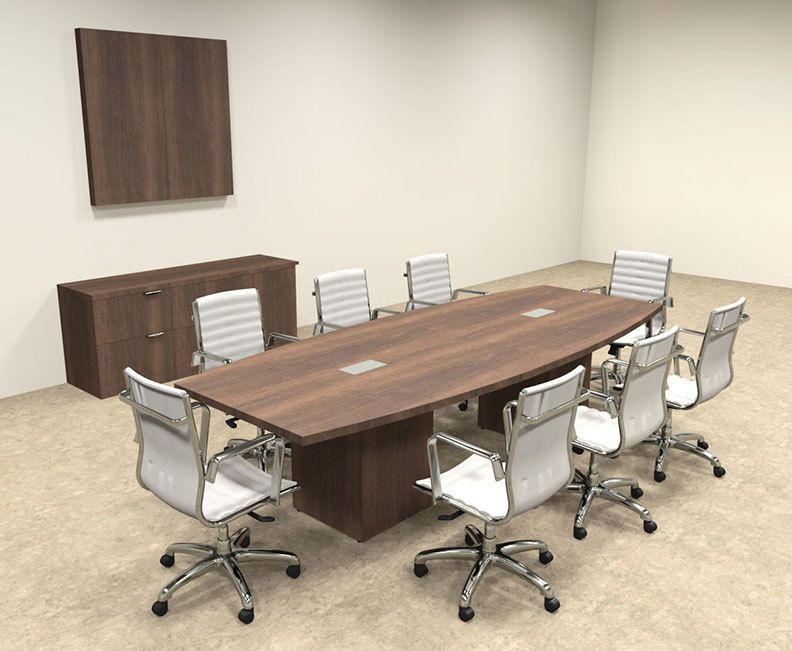 Modern Boat Shaped Cube Leg 10 Feet Conference Table Of Con Cq16 Modern Conference Table Conference Table Table