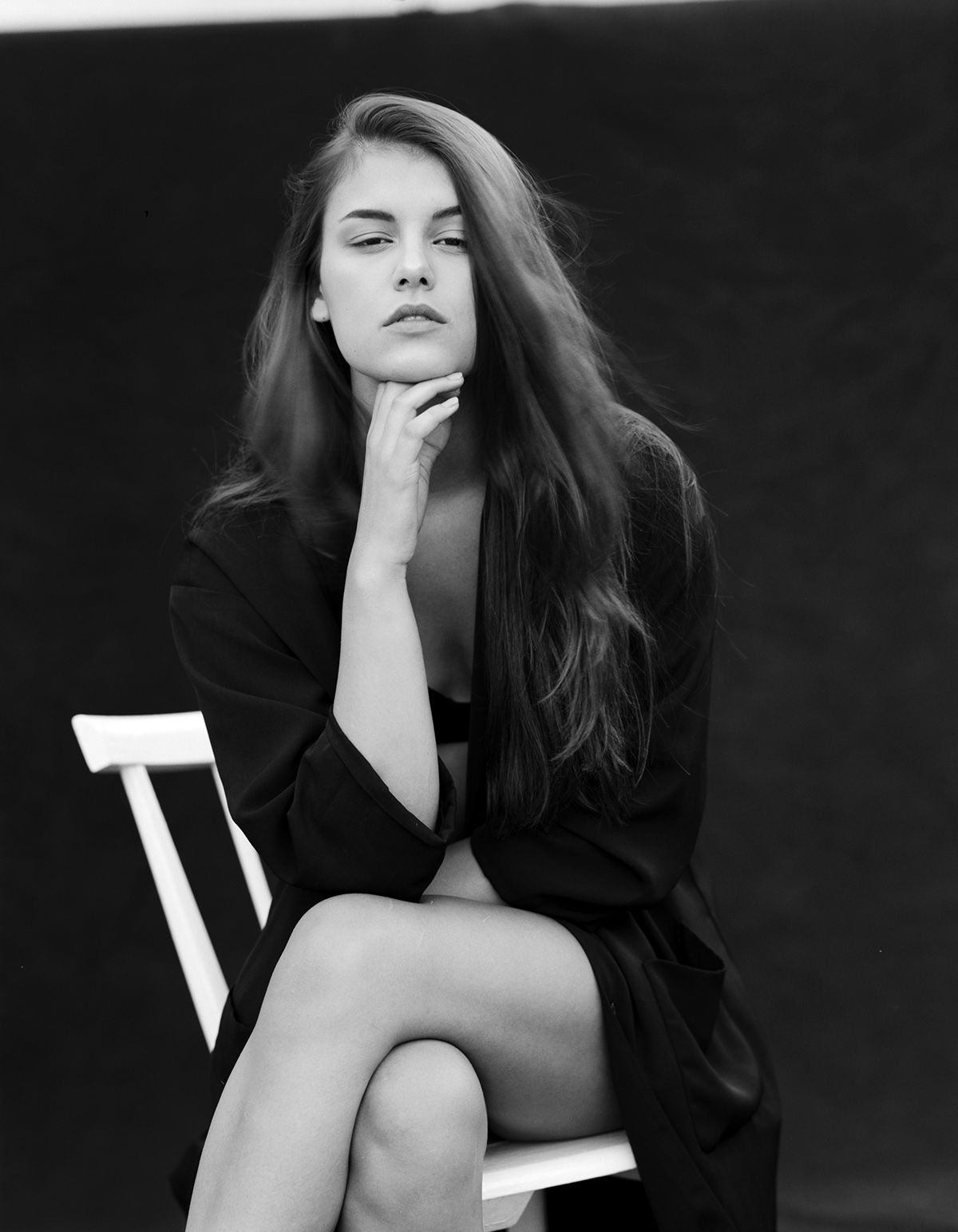 Janina for Sophie Giannoules clothing editorial on Behance