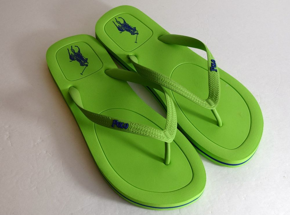 f43d18549 Polo Ralph Lauren Pony Halesowen Men s Sandals Flip Flops Size 11 Green  Blue New  PoloRalphLauren  FlipFlops
