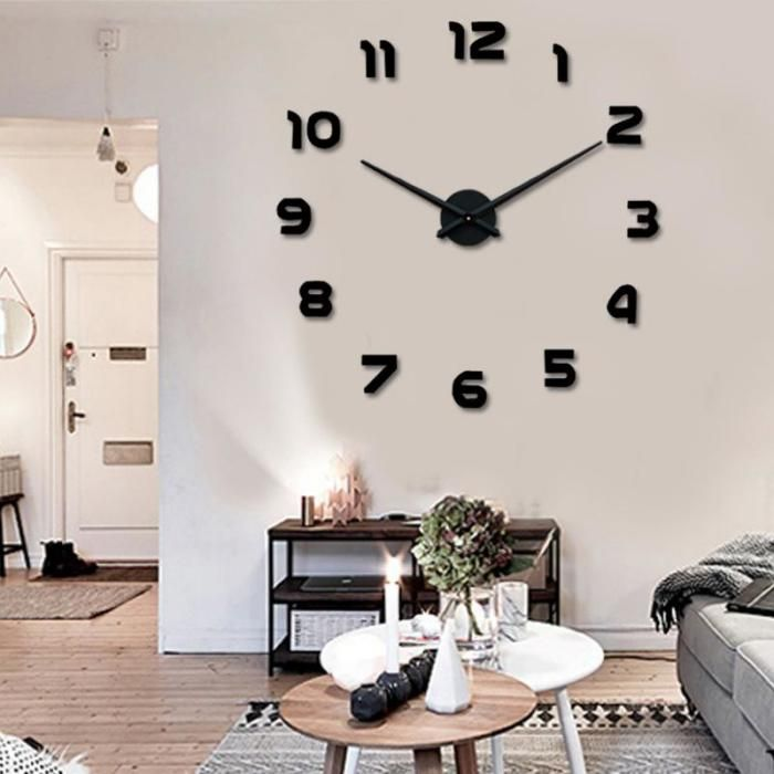 Wanduhr-modern-Ziffern-stilvolle-EInrichtung-feines-Wohnzimmer - wanduhren modern