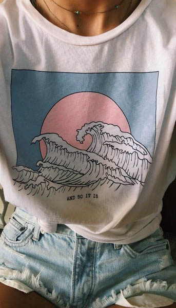 And So It Is Ocean Wave Aesthetic T-Shirt