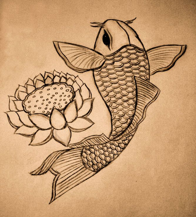 koi lotus design by jilljay on deviantart