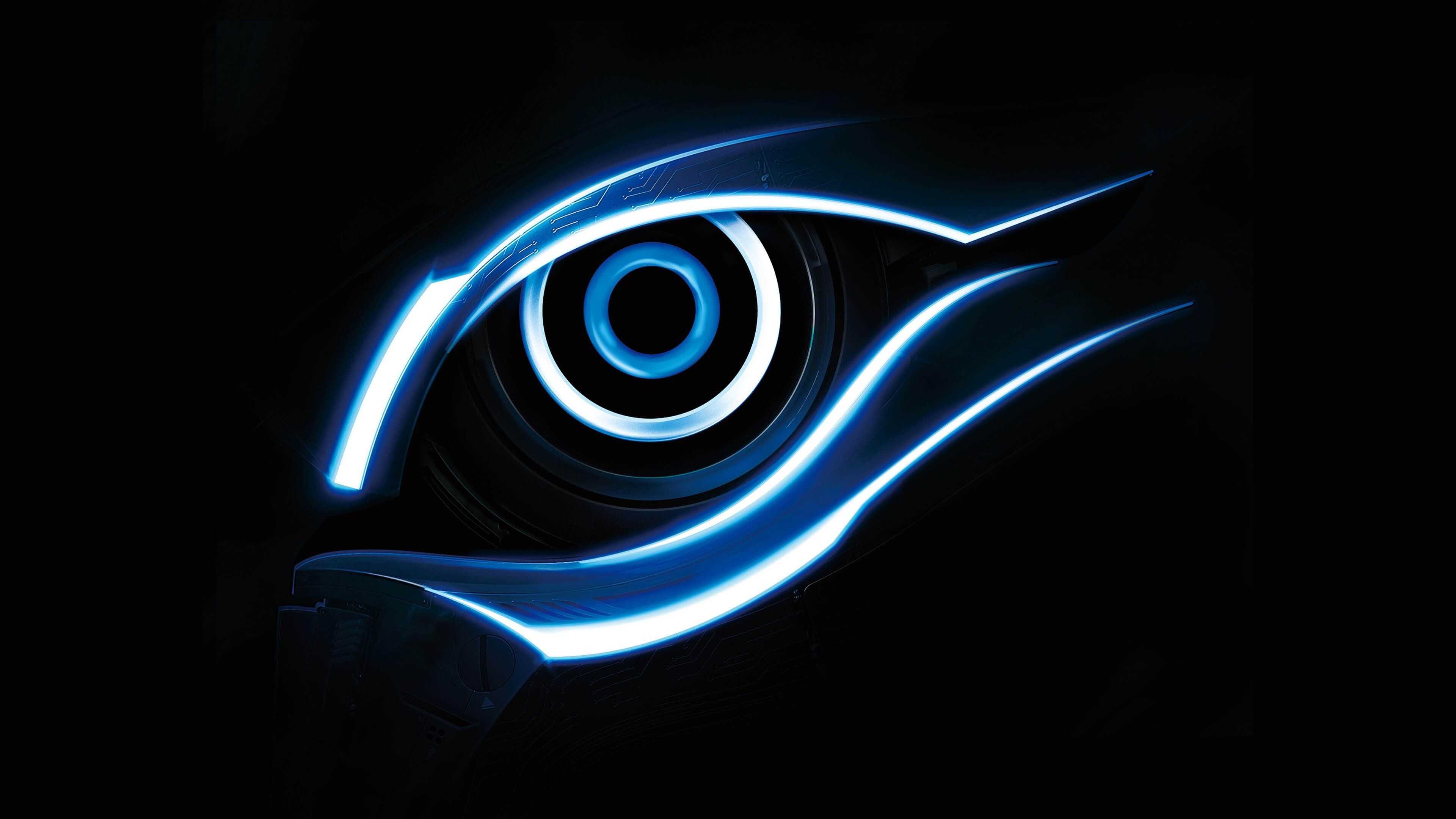 3840x2160 Ultra Hd 4k Blue Gigabyte Eye Logo 4k Wallpaper Download Wallpaper Dark Wallpaper Computer Wallpaper Desktop Wallpapers Technology Wallpaper