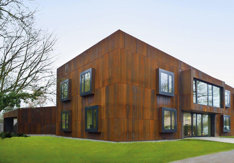 l 39 acier autopatinable peut tre utilis pour habiller l 39 ext rieur d 39 une maison en bois c 39 est. Black Bedroom Furniture Sets. Home Design Ideas