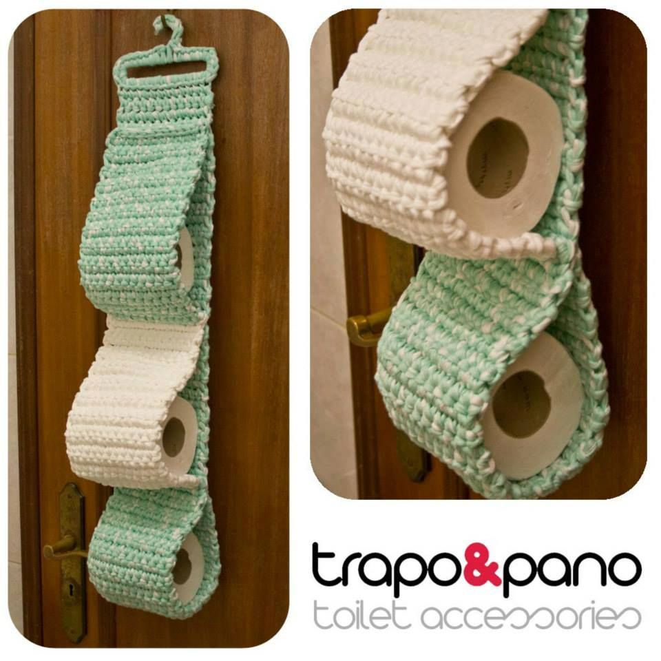 Porta Rollo Papel Higienico En Tejido Crochet Crochet