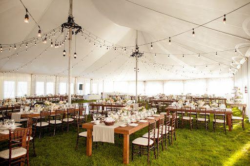 Avial Beach Resort Wedding Rustic Tables Lighting Table Runners Design