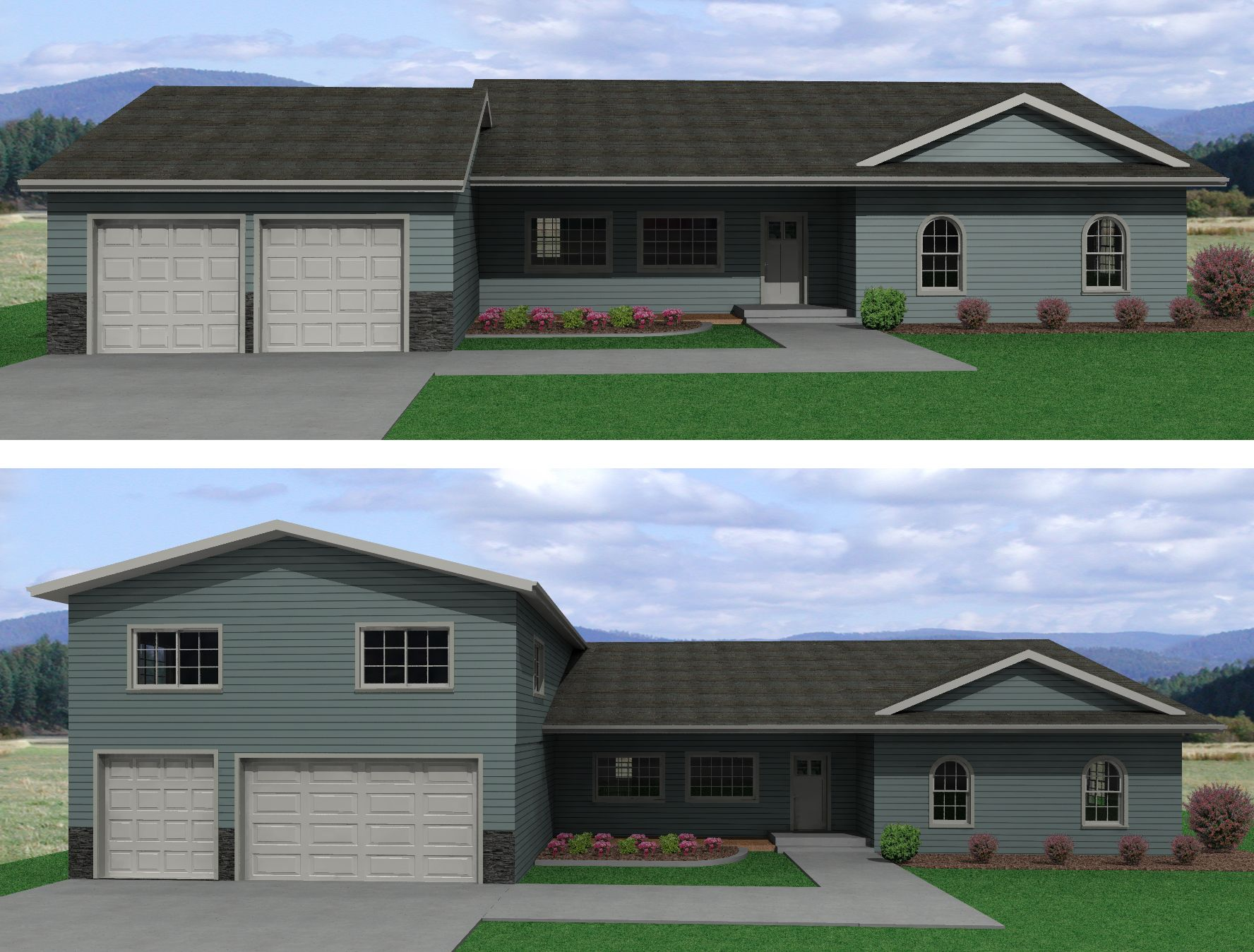 Image Result For Addition Over Garage Second Story Addition Exterior House Remodel Garage Addition