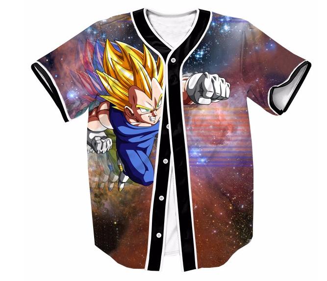 DBZ Super Saiyan Vegeta Space Galaxy Streetwear Hip Hop 3D Baseball Jersey   DBZ  SuperSaiyan  Vegeta  Space  Galaxy  Streetwear  HipHop  3D  Baseball    ... 983ec90d7