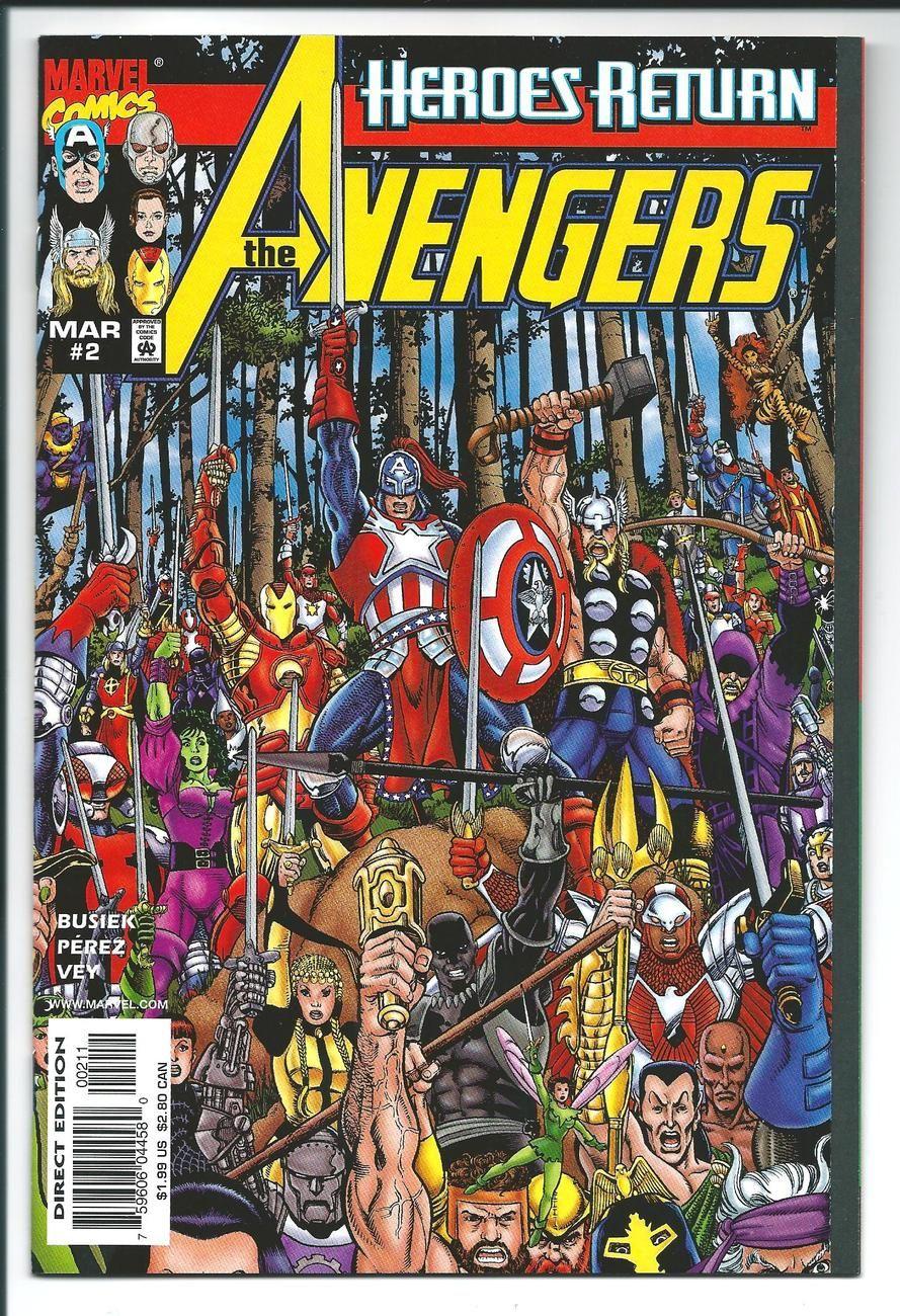 Avengers heroes return issue 2 perez kurt busiek