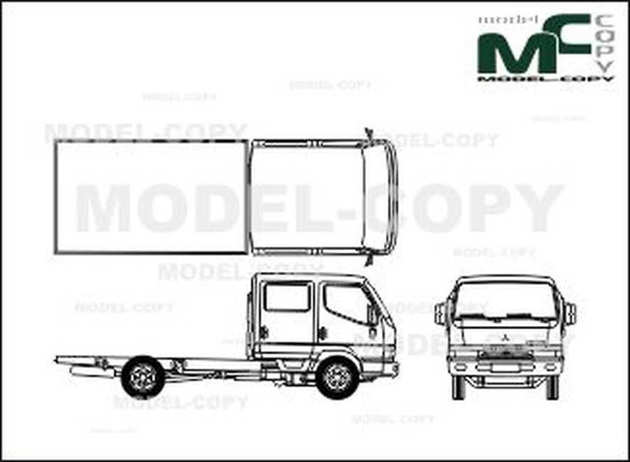 Mitsubishi Canter 35, long wheelbase, double cabin