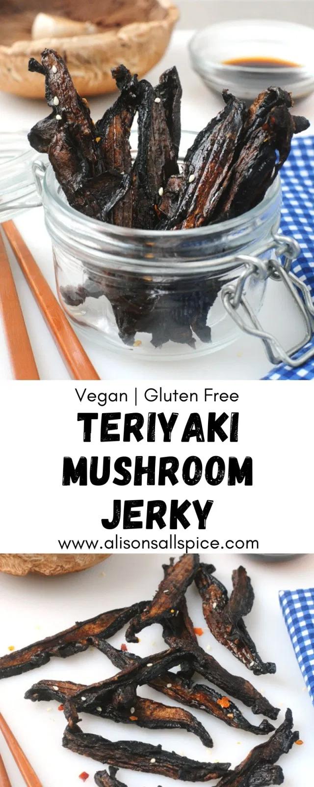 Teriyaki Mushroom Jerky