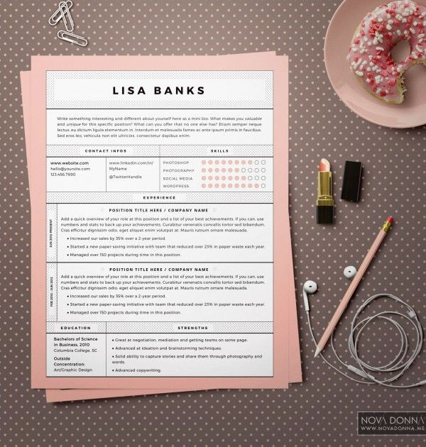 Resume Templates / CV Template Design + Cover Letter Resume