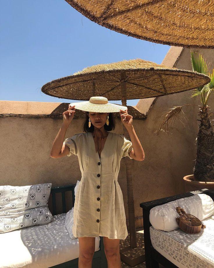 #Vestidolino. El #lino es ideal para el verano. Te... - #beige #El #es #ideal #lino #para #te #verano #Vestidolino #vacationoutfits