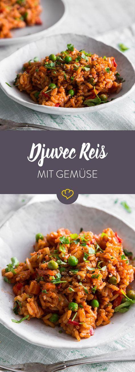 Photo of Würziger Djuvec-Reis mit frischem Gemüse