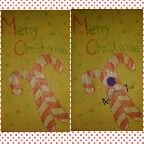 DIY tissue paper Christmas gift wrap paper Candy cane Add a small