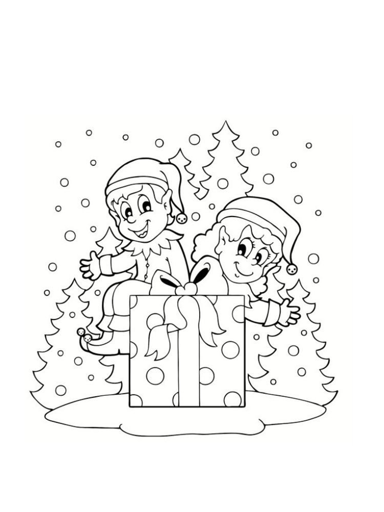 Coloriage Lutin De Noël 20 Modèles à Imprimer Education Elf