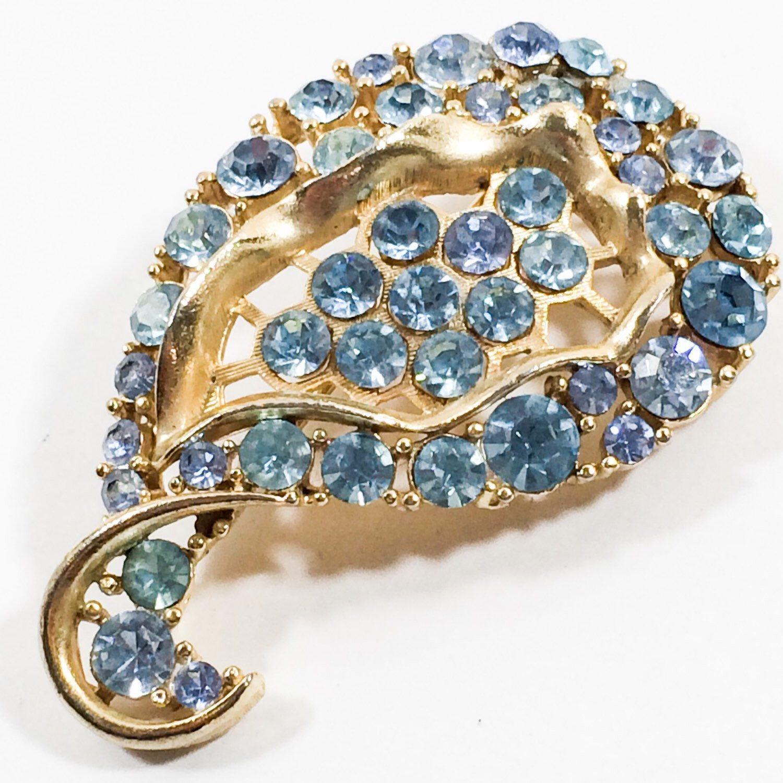 A personal favorite from my Etsy shop https://www.etsy.com/listing/217178973/sale-lisner-vintage-aqua-blue-rhinestone