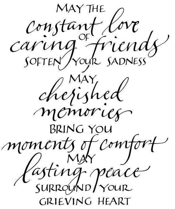 Nice verse for inside a sympathy card Sympathy   Encouragement - sample condolence message