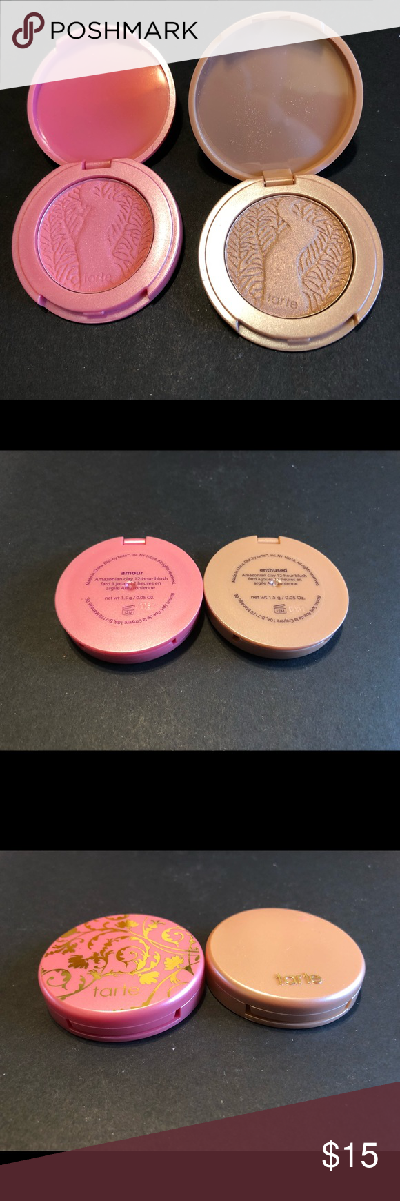 2 deluxe sized tarte blushes Used once. 100% Authentic. Sephora Makeup Blush