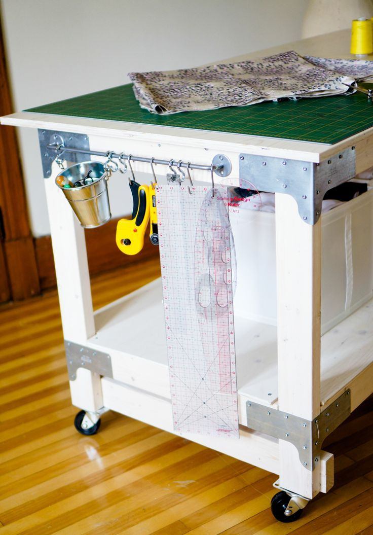 Sewing U0026 Cutting Table DIY For Your Craft Or Sewing Studio | Cutting Tables,  Cuttings And Apron