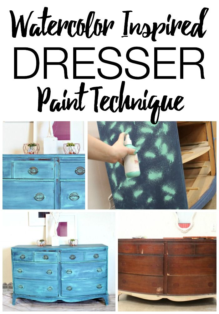 Watercolor Painting On A Dresser Refunk My Junk Furniture Painting Tutorial Furniture Painting Techniques Wall Painting Techniques