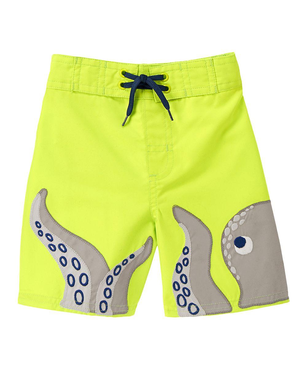 Gymboree Electric Yellow Octopus Swim Trunks - Infant 57ed38d5fe