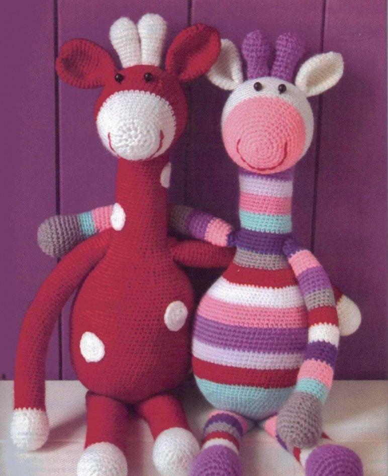 jirafa de arco iris amigurumi crochet juguete por JoyToysbyTatiana ... | 947x772