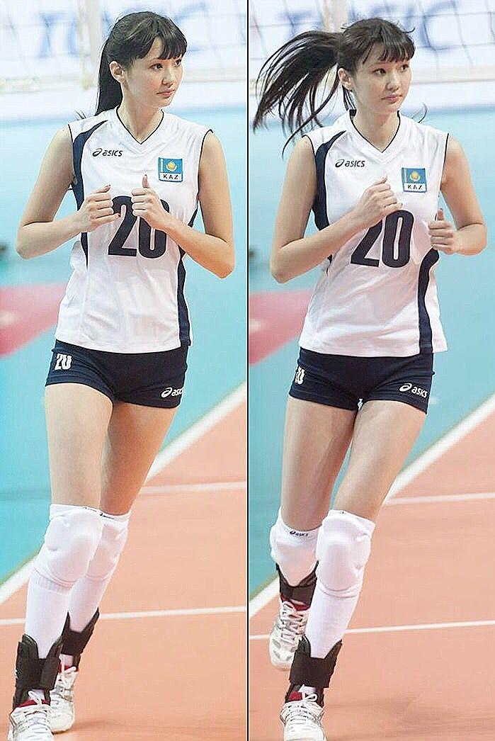 Sabina Altynbekova On Topgirls Hotgirls Volleybal Cheerleaders Cheerathletics Allstarcheer Backflip Allst Sport Girl Women Volleyball Female Athletes