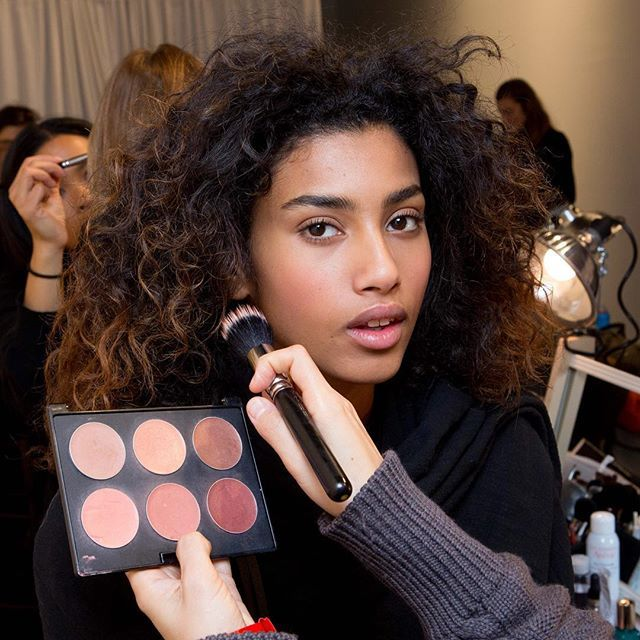 Getting runway ready: Backstage at the Fall 2016 Ralph Lauren Collection show. #NYFW #RLRunway @imaanhammam