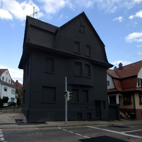 An Abandoned House In Möhringen Painted Black By Artists Erik Storm And His Colleague Simon Young Four Days Time They The Entire From