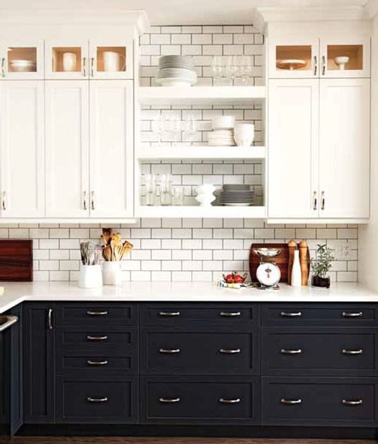 The Look- Two Tone Tuxedo Kitchen | Kitchen trends, Girl blog and ...