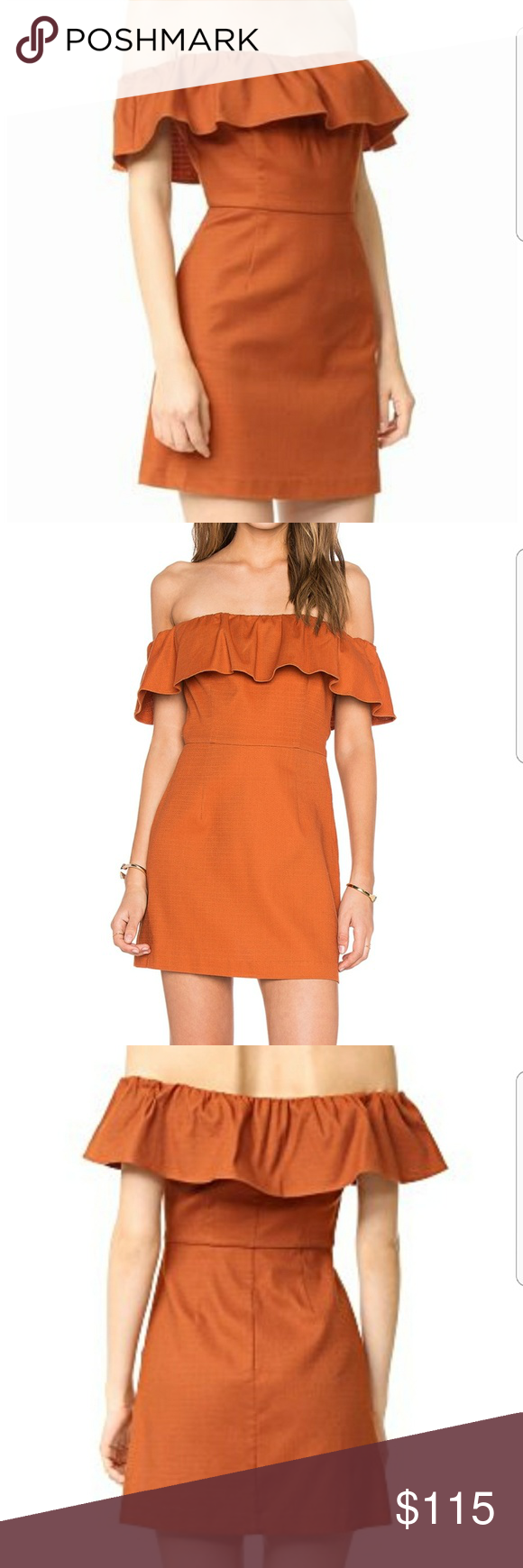 Kendall and Kylie Cinnamon Stick Off the Shoulder Kendall and Kylie size  small. New with 707a0811d