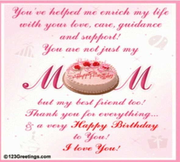 From Tina Birthday Wishes For Mom Happy Birthday Mom Quotes