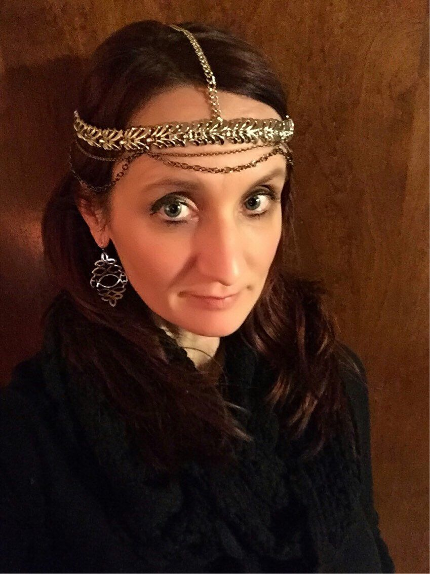 A personal favorite from my Etsy shop https://www.etsy.com/listing/223569656/chain-headdress-hair-garland