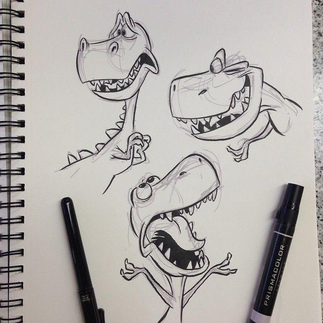 T-Rex pt. 2 - #cartoon #pt #trex #dinosaurart