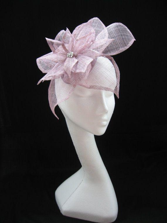 32517a07b12aa Amethyst pink fascinator hat headwear for by Fascinatorshats