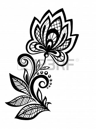 Stock Vector Flower Tattoo Designs Pattern Design Henna Designs