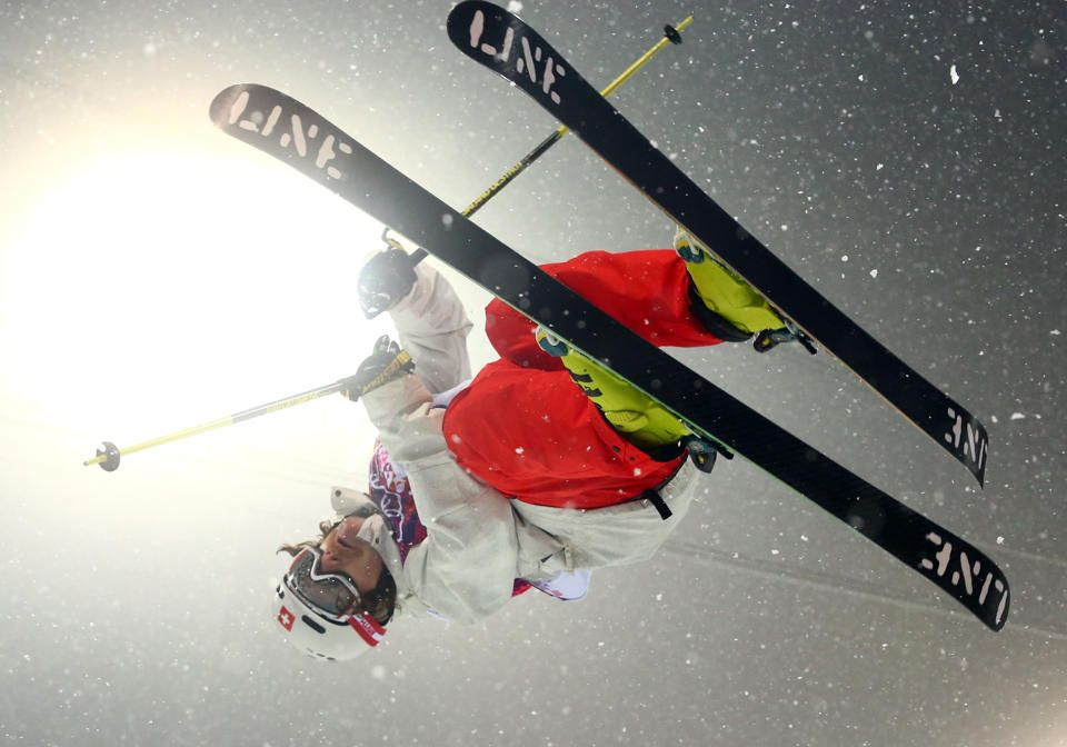 DAY 12:  Nils Lauper of Switzerland competes during the Freestyle Skiing Men's Halfpipe http://sports.yahoo.com/olympics