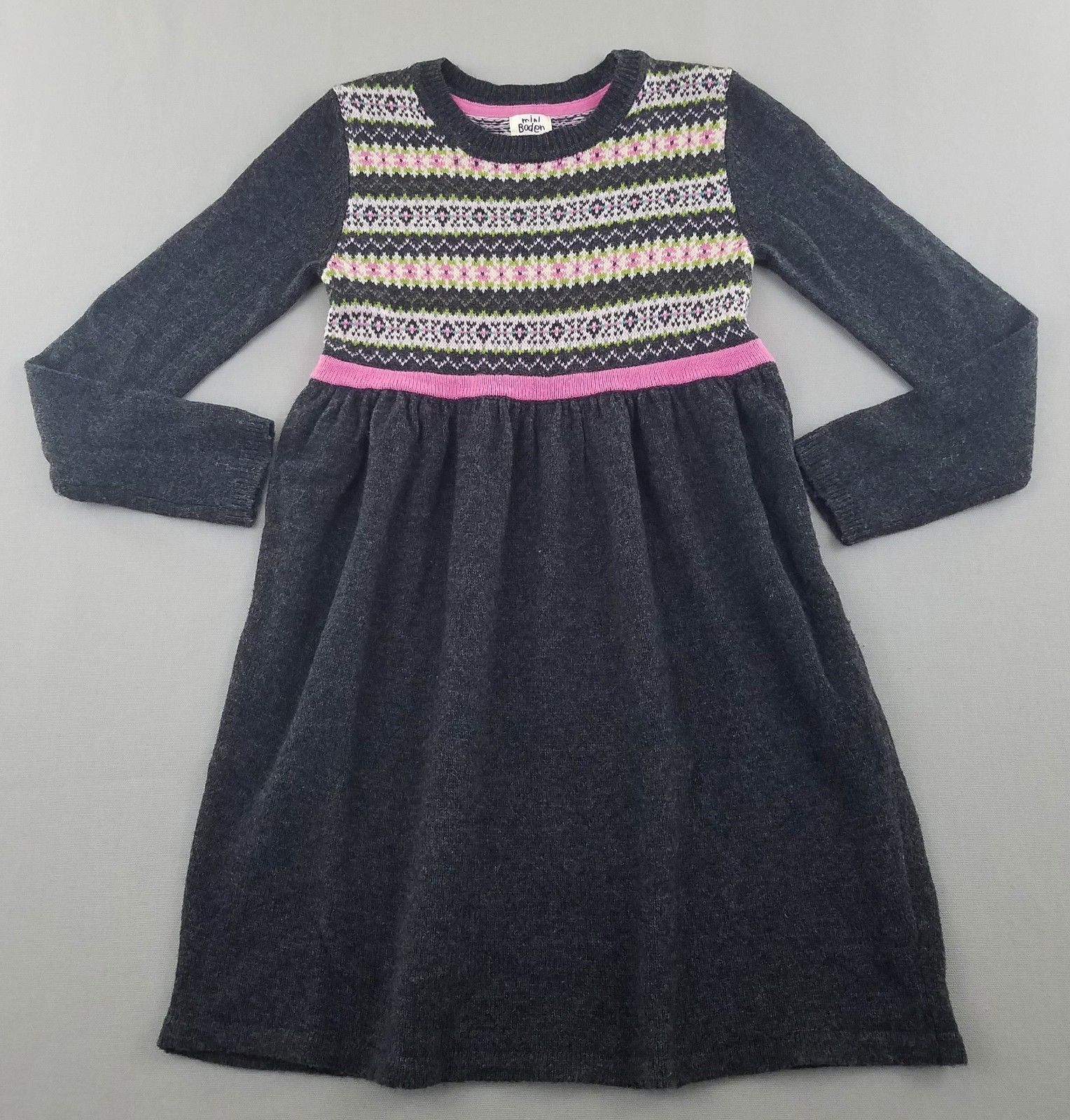 Mini Boden Fair Isle Knitted Sweater Dress | Mini Boden Girls ...