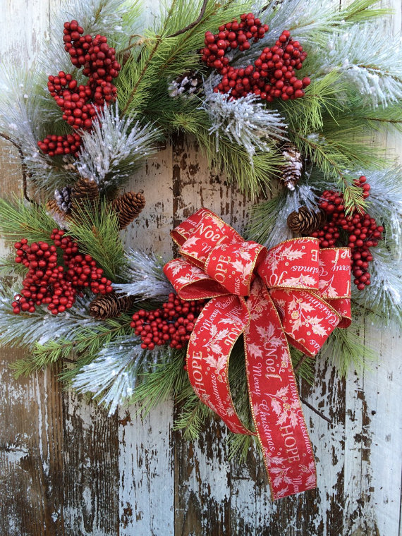 large christmas wreath snowy christmas wreath wreath for door outdoor holiday wreath - Large Outdoor Christmas Wreath