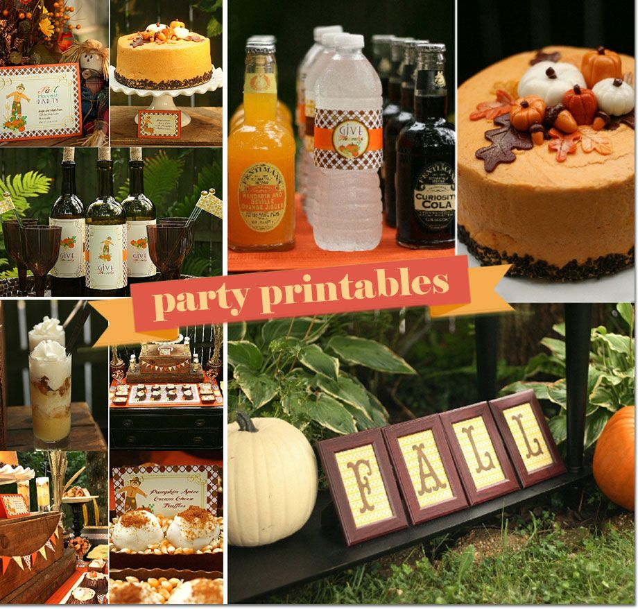 Good Fall Party Decoration Ideas Part - 12: Fall Harvest Party Printables For Thanksgiving #thanksgivingprintables