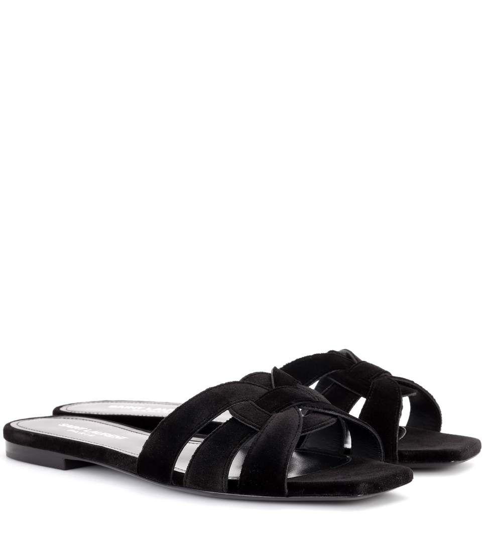 Saint Laurent Sandals NU PIEDS 05 velvet Great Deals Online Fake Online aHMaD