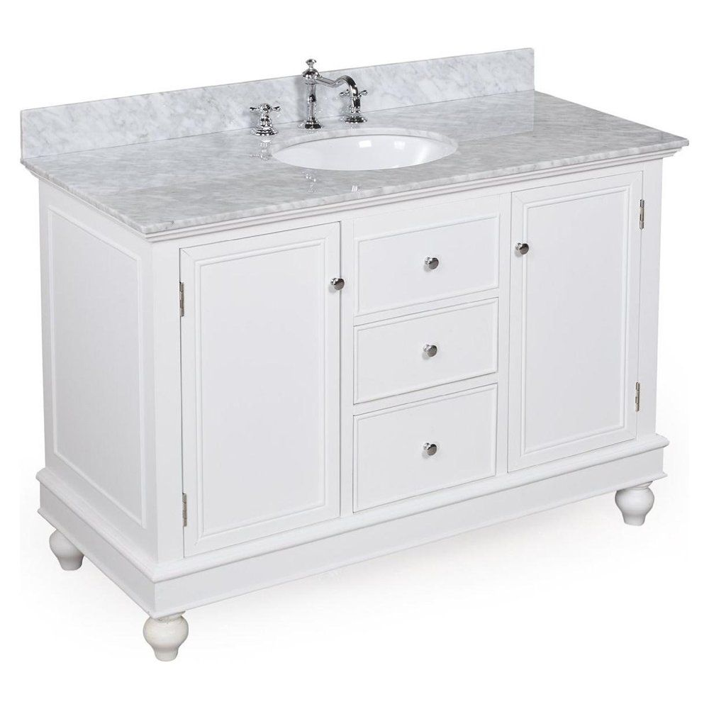 White Bath Vanity Bathroom Vanity Cabinets White Bella 48 Inch