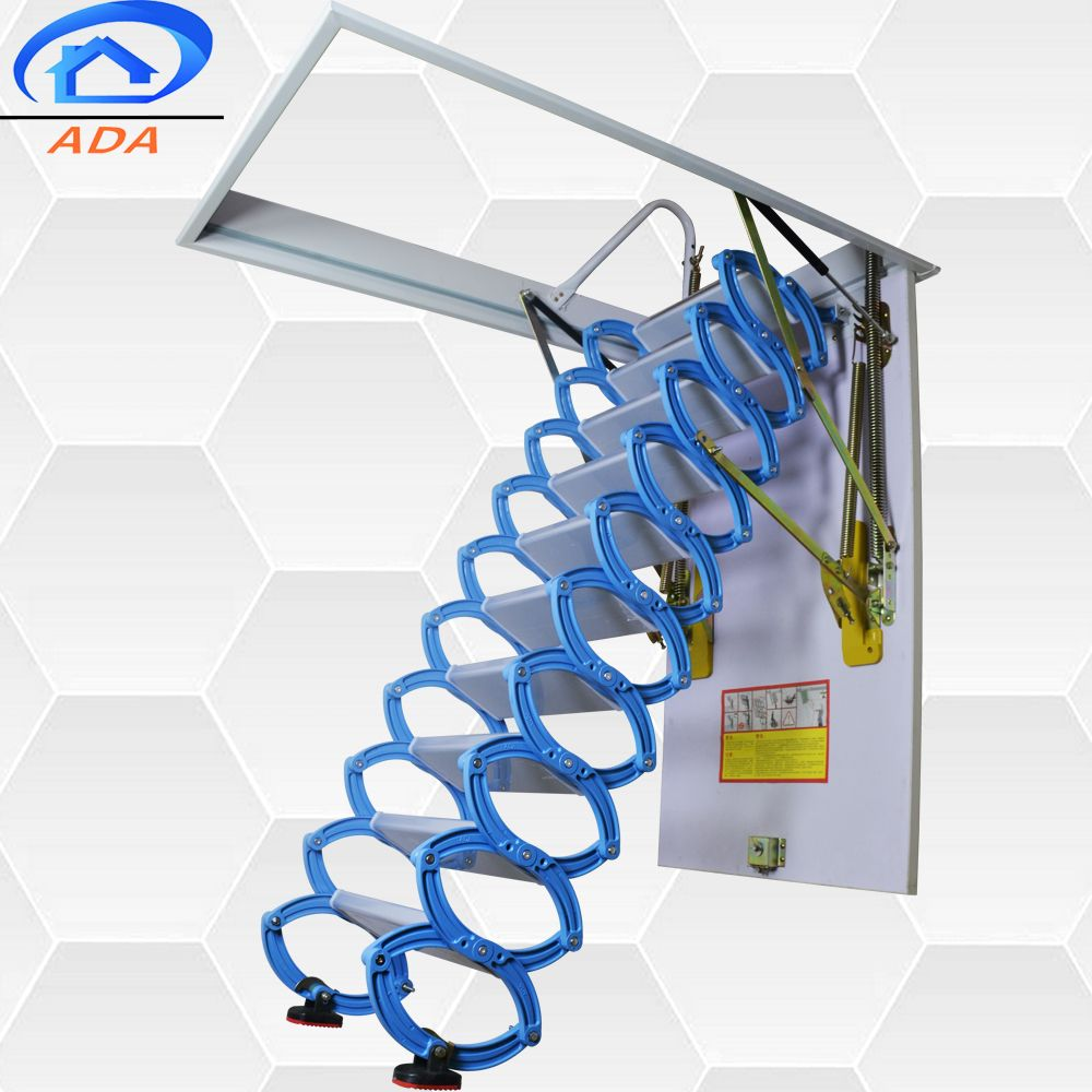Popular Folding Attic Ladders With Handrail Buy Homebase Step Ladders Quality Loft Ladders Roof Access Ladder Product On Alibaba Com