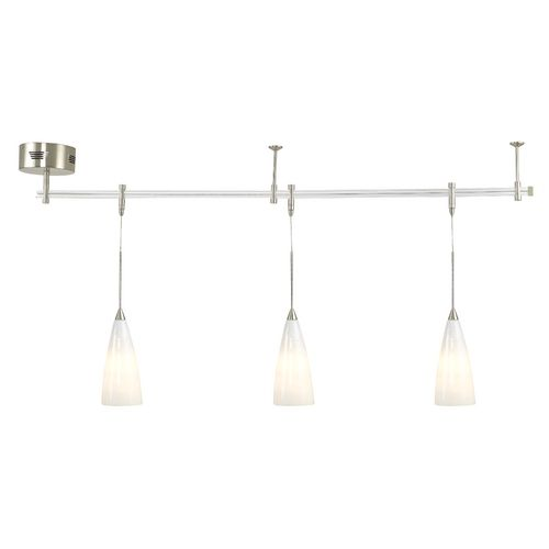 Low voltage pendant light rail kit with white art glass 4 feet at low voltage pendant light rail kit with white art glass 4 feet at destination aloadofball Image collections